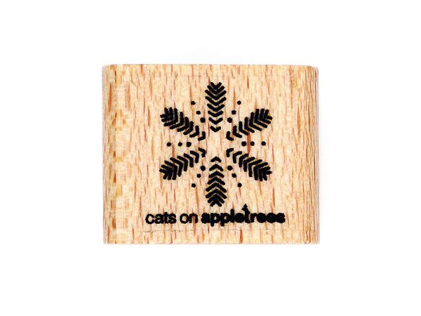 Schneeflocke aus Pfeilen und Punkten – Stempel
