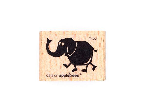 Elefant Ocke stehend – Stempel