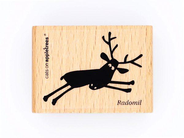 Rentier Radomil springend