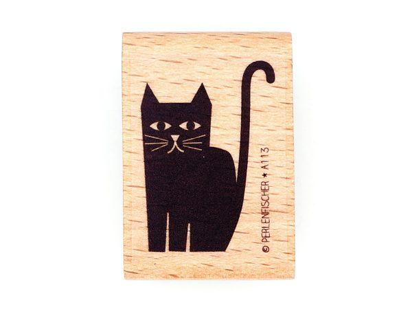 Katze sitzend – Stempel
